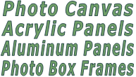 Photo Canvas & Photo Box Frames