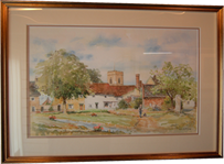 Haughley - Watercolour - By Brian Lilley
